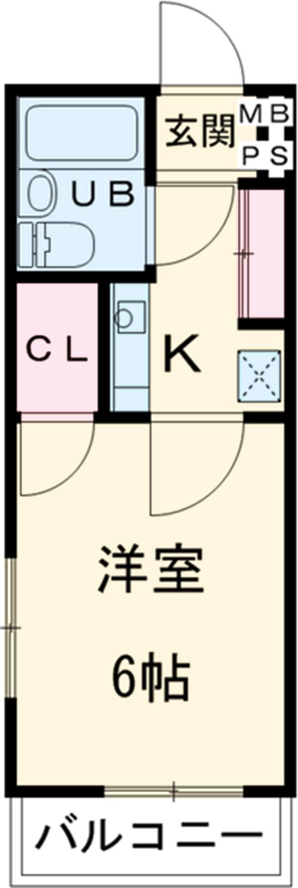 メープルコート駒沢 101号室の間取り