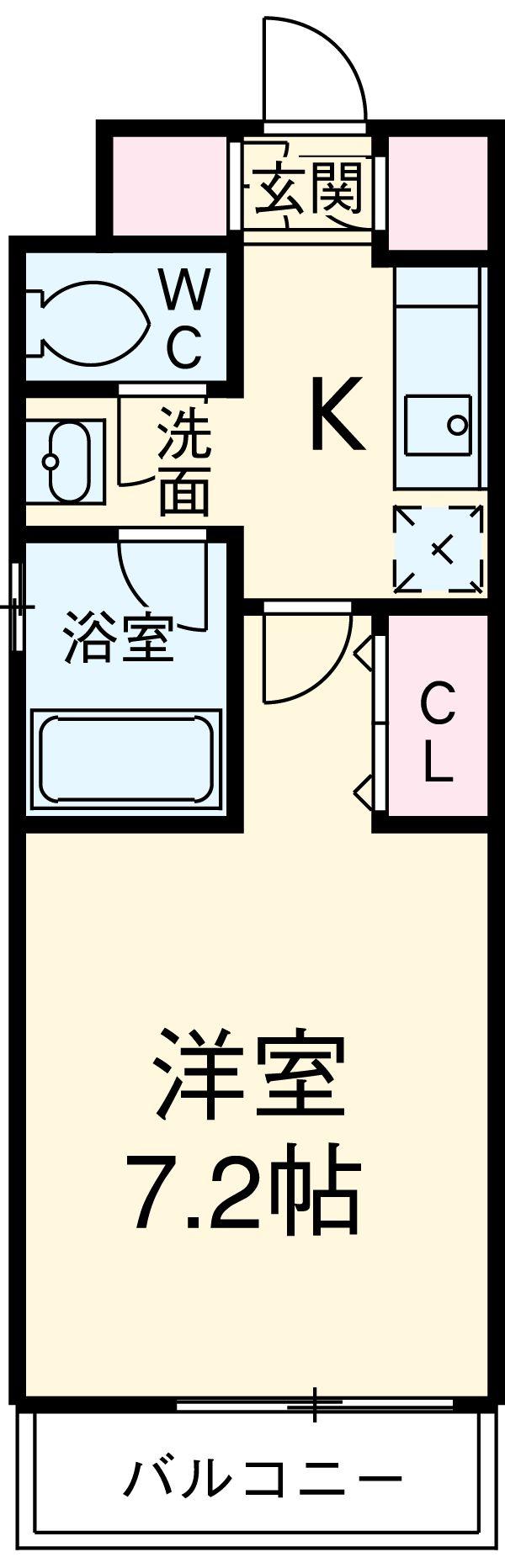 HF駒沢公園レジデンスTOWER 612号室の間取り