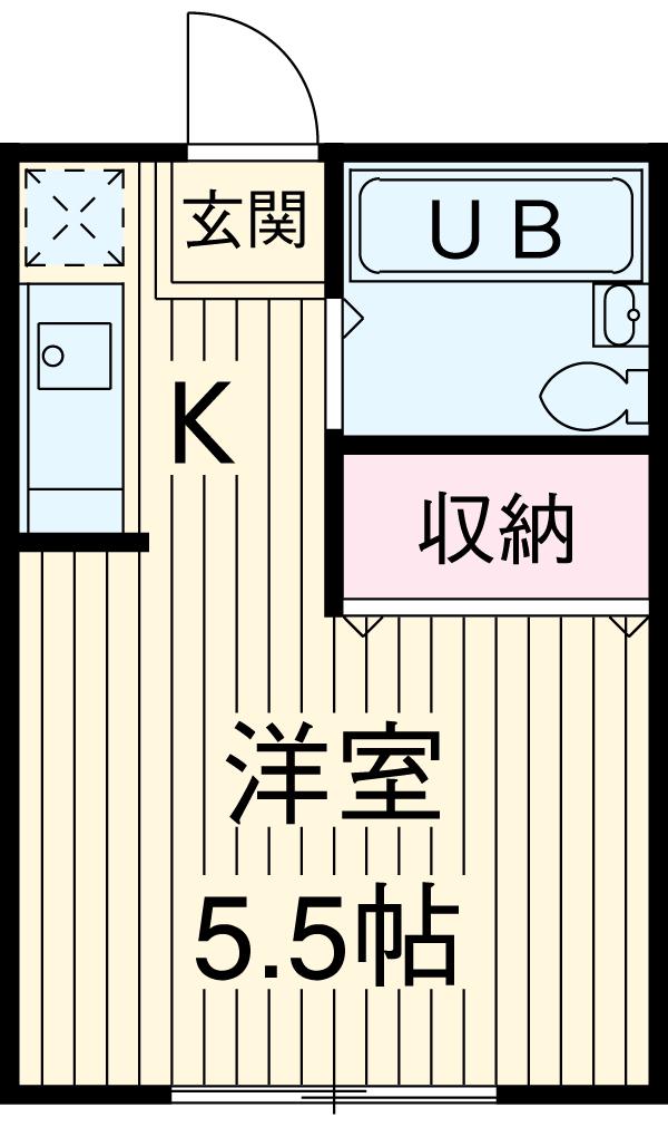 長谷見アパート 201号室の間取り