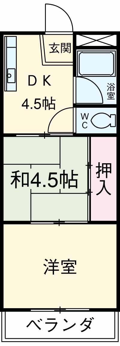 シャイン駒沢 301号室の間取り