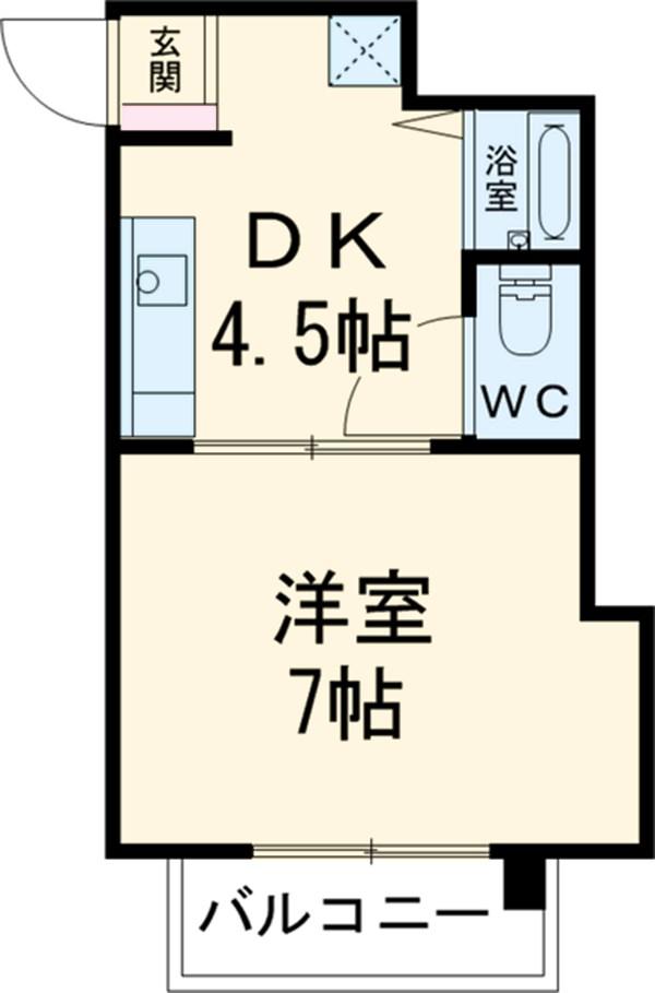 サナイマンション 104号室の間取り