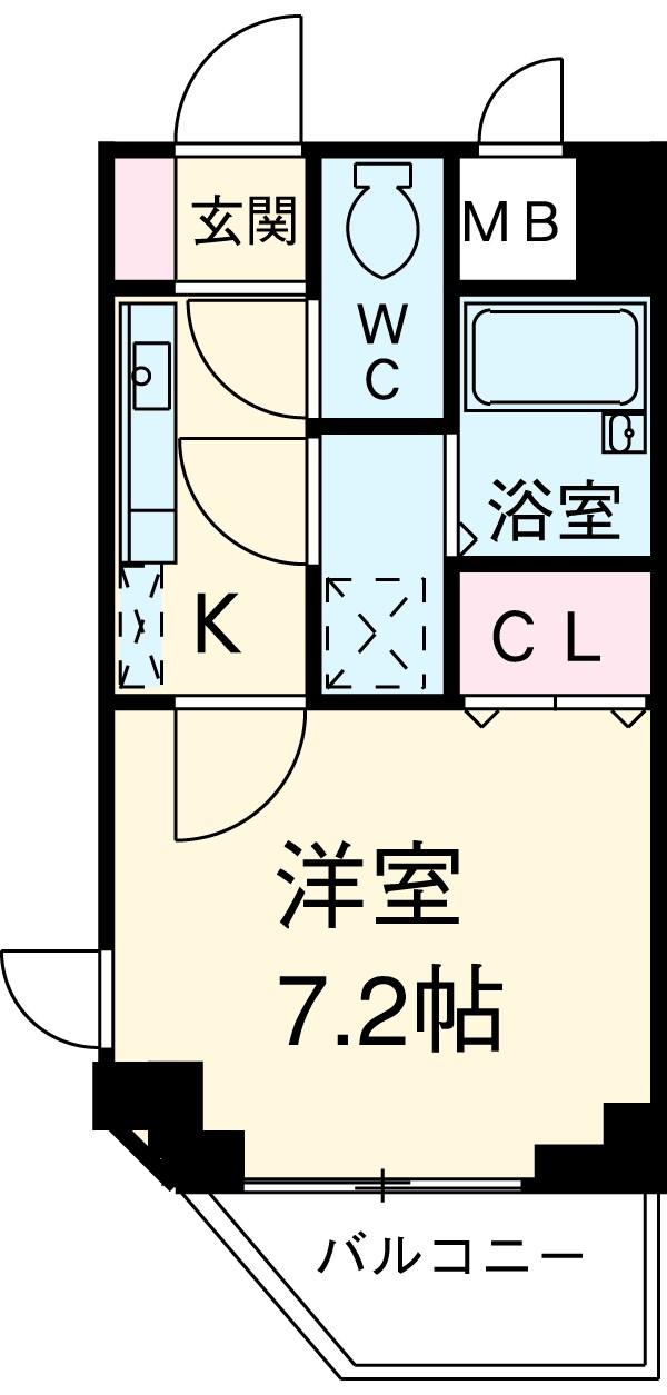 アーデン駒沢大学 1201号室の間取り