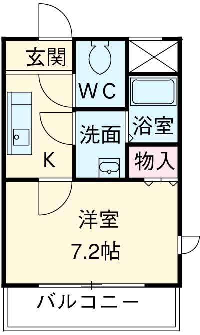 アーデン駒沢大学 602号室の間取り
