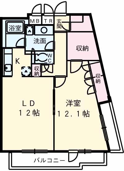 アパートメンツ駒沢大学 401号室の間取り
