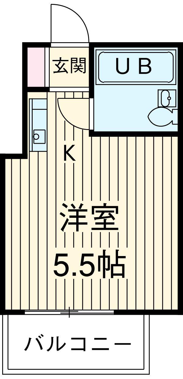 スペース88 303号室の間取り