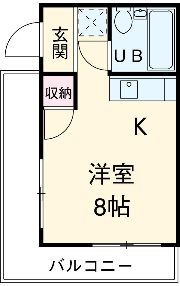 マツヤハウス 302号室の間取り
