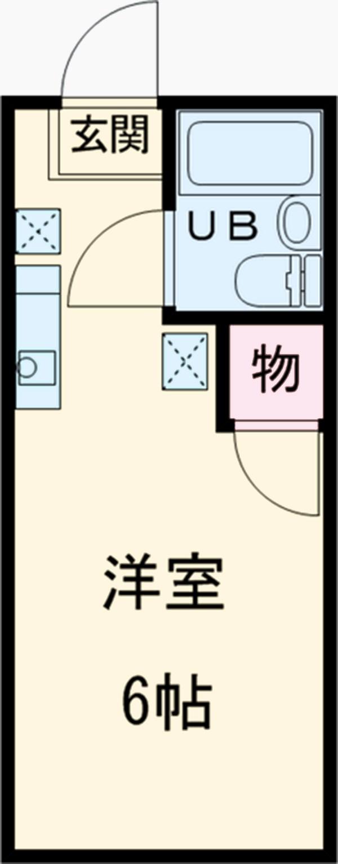 エルベ駒沢 103号室の間取り