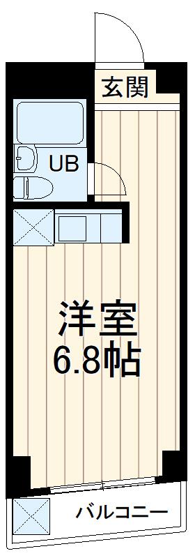 ディアコートFUJI 203号室の間取り