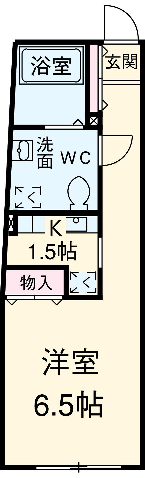ZESTY駒澤大学Ⅱ 401号室の間取り