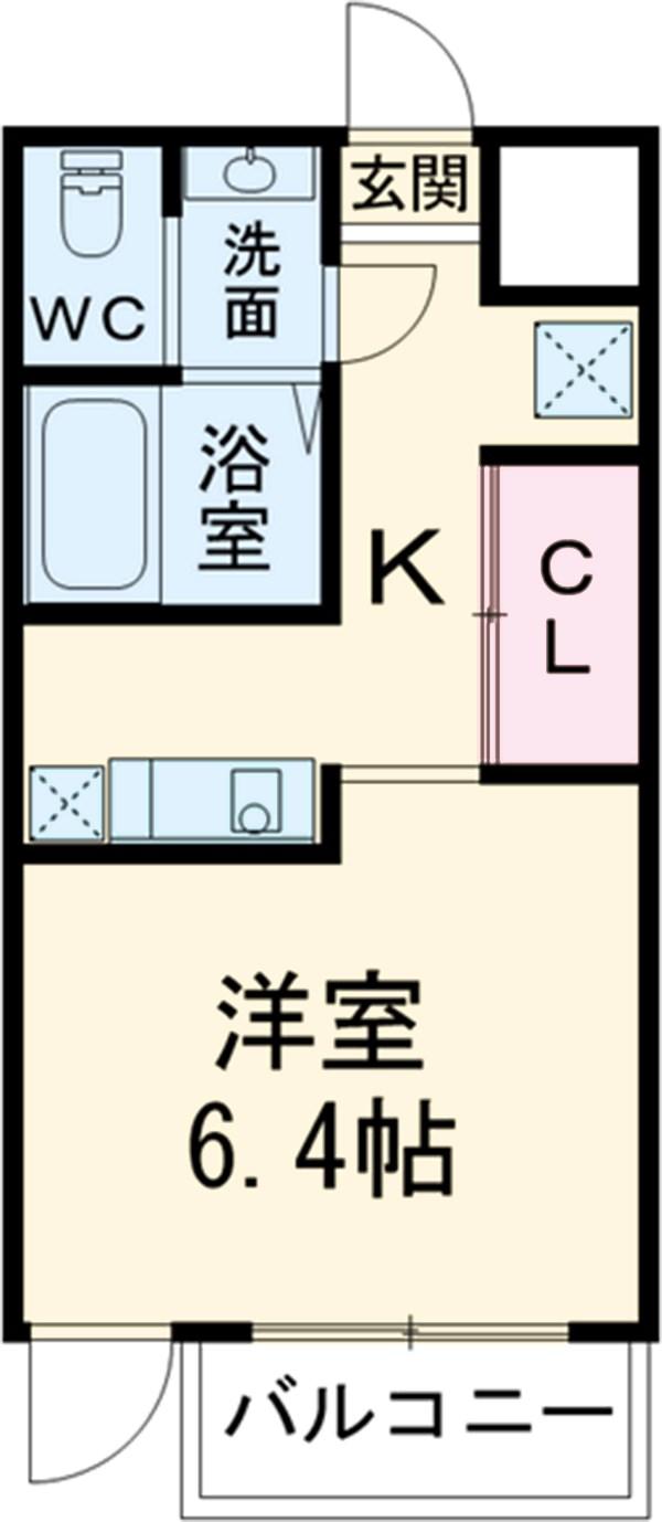 第12フォンタナ駒沢 302号室の間取り