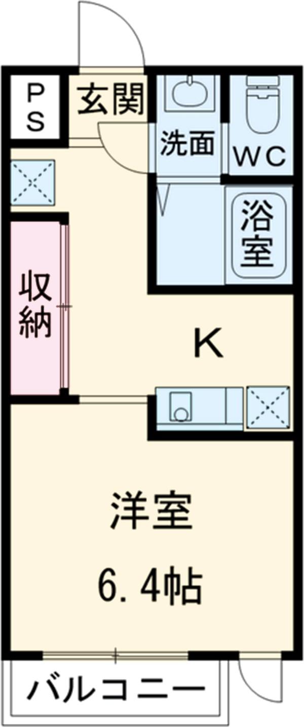 第12フォンタナ駒沢 303号室の間取り