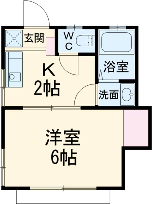 斎藤荘 102号室の間取り