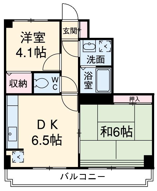 鳴島ビル  302号室の間取り