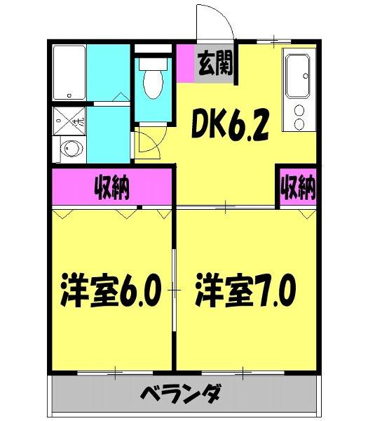 オードリーマンション 302号室の間取り