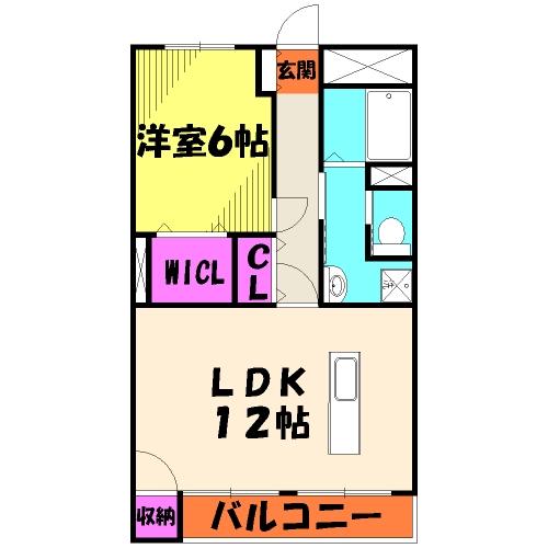 第2井上マンション 302号室の間取り