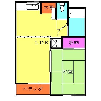 岩端ビル 4-B号室の間取り