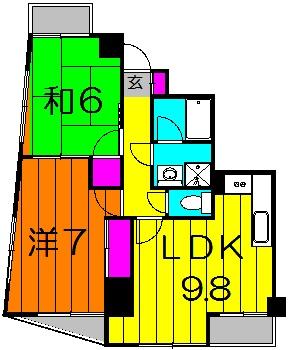 新田第9ビル 702号室の間取り