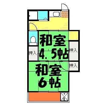 田中アパート 201号室の間取り