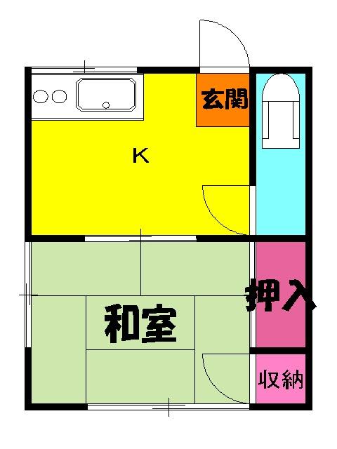 吉野荘B 203号室の間取り