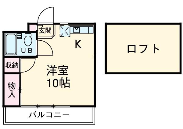 テックハウジング2 2D号室の間取り