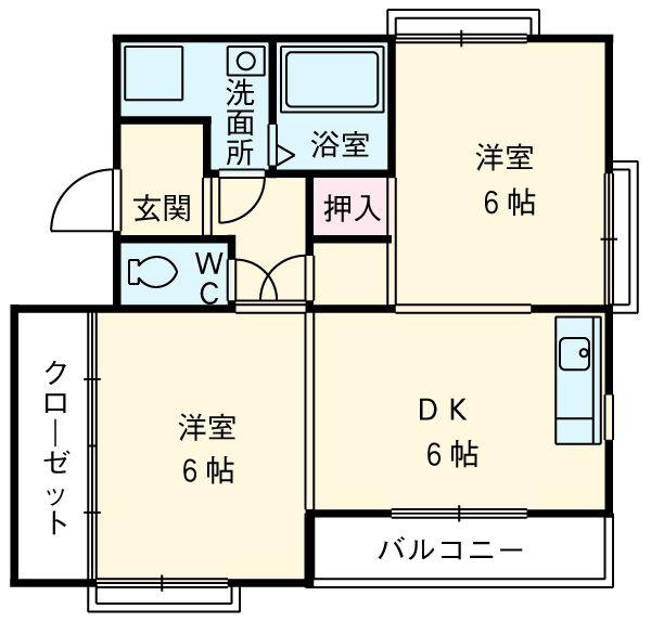 プリミエール勝川 101号室の間取り