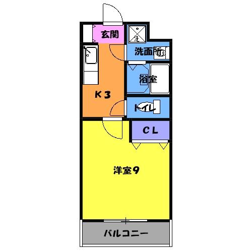 マンションアルティア Ⅱ 105号室の間取り