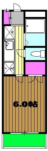 アヴィオンⅠ 00101号室の間取り