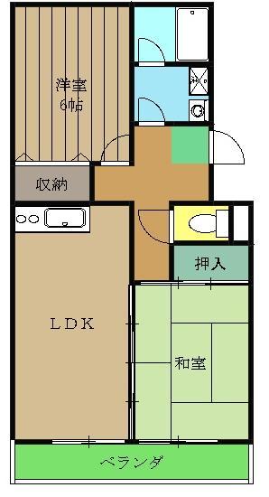 パティオ東菅野コミュニティ2号館 306号室の間取り