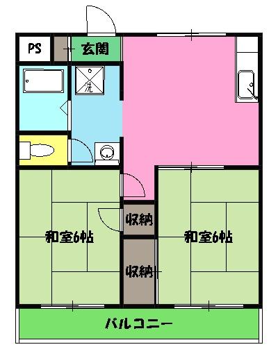 ミタマハイツ2 103号室の間取り