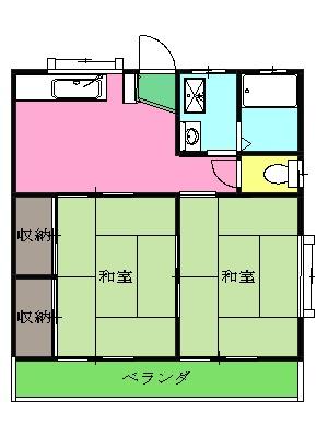 コーポ中田B 201号室の間取り