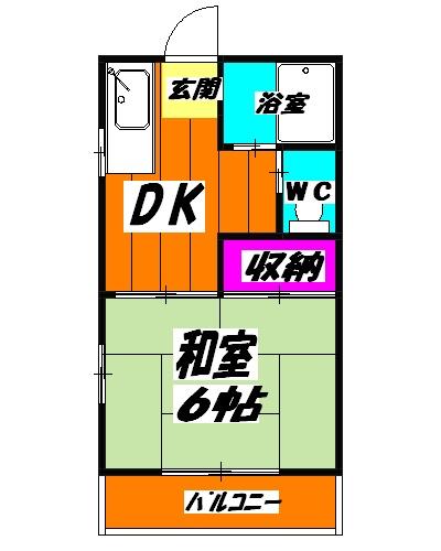 メゾンド・イナガキ 203号室の間取り