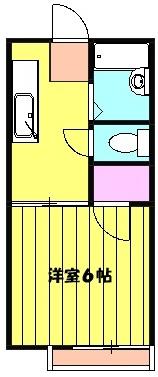 ロジュマン 205号室の間取り