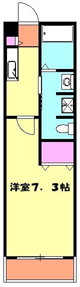 アンプルール フェール ClefⅡ 302号室の間取り