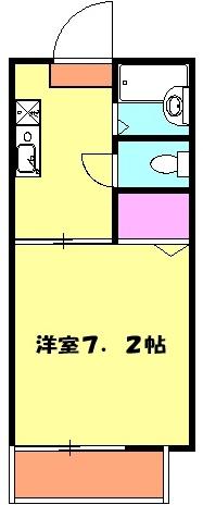 アクシーズ東大宮 203号室の間取り
