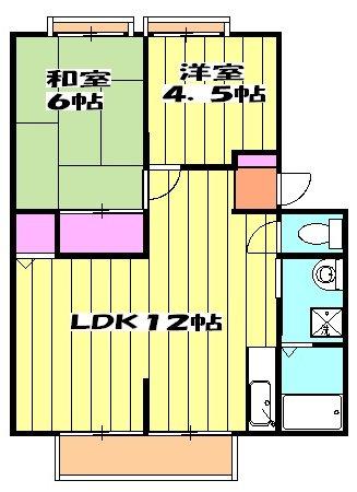 サンライフサワダ B201号室の間取り
