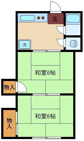 第5カントー荘 208号室の間取り