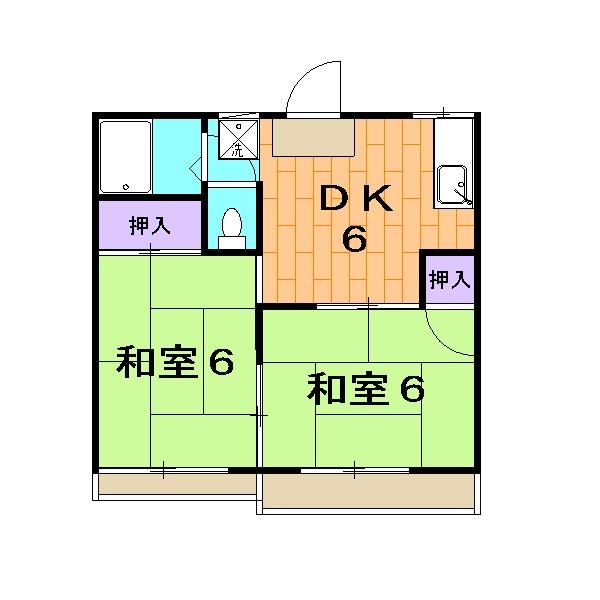 STハウス宗岡1号棟 201号室の間取り