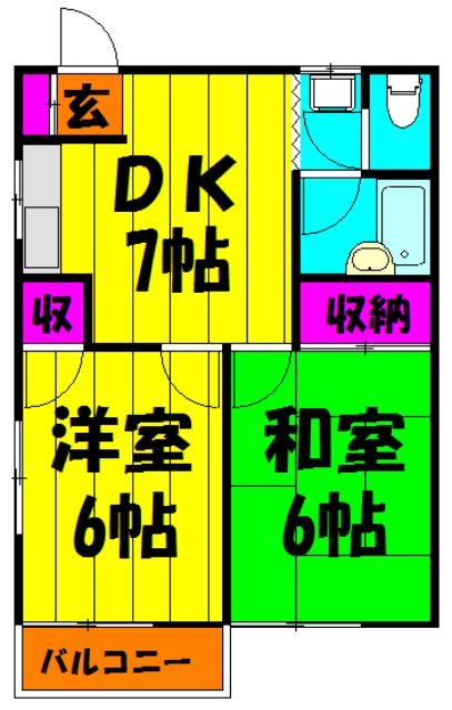 和田コーポ 201号室の間取り