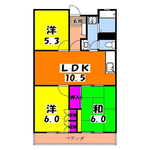 緑が丘753マンション 603号室の間取り