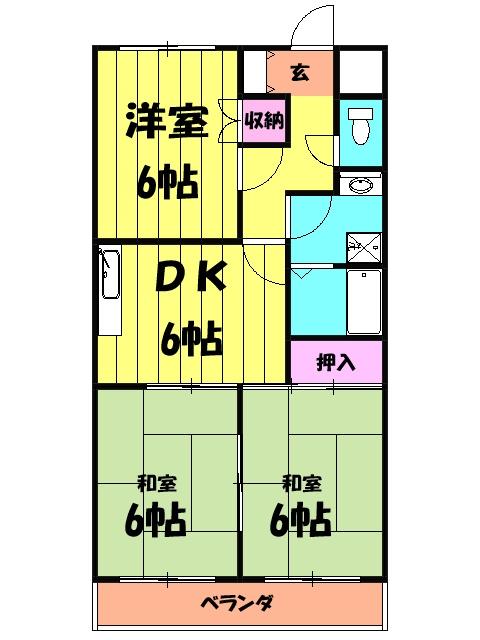 原第5マンション 105号室の間取り