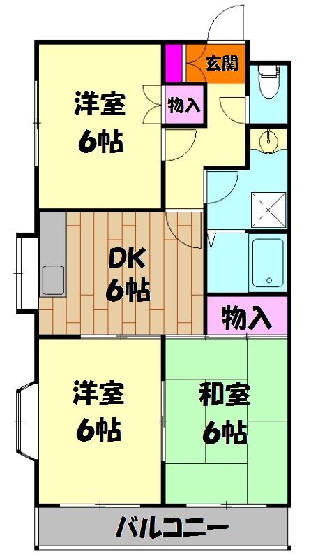 原第7マンション 101号室の間取り