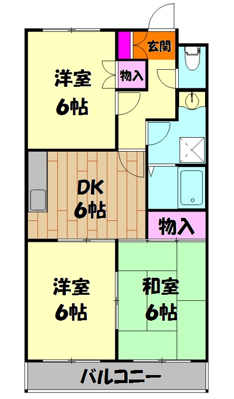 原第7マンション 107号室の間取り