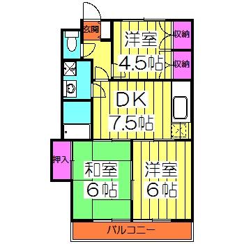 原第10マンション 306号室の間取り