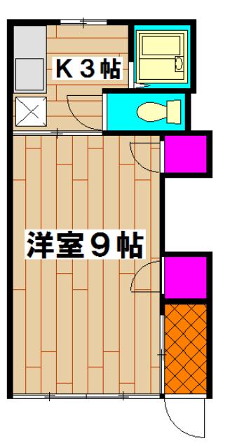 岡本ハイツ 103号室の間取り