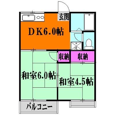 利根川住宅七番街 201号室の間取り