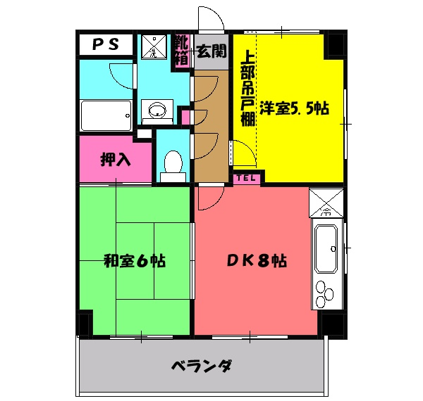 春日部ダイヤモンドマンション 304号室の間取り