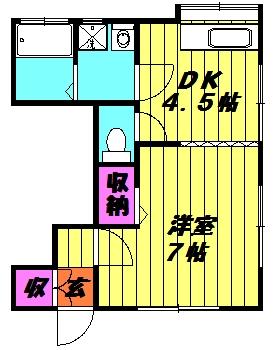 清水アパート 102号室の間取り