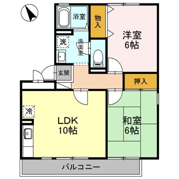 グリーンハウスⅢ 203号室の間取り
