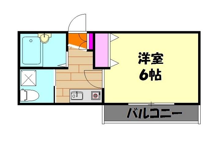 ダイレクトマンションNo2 201号室の間取り