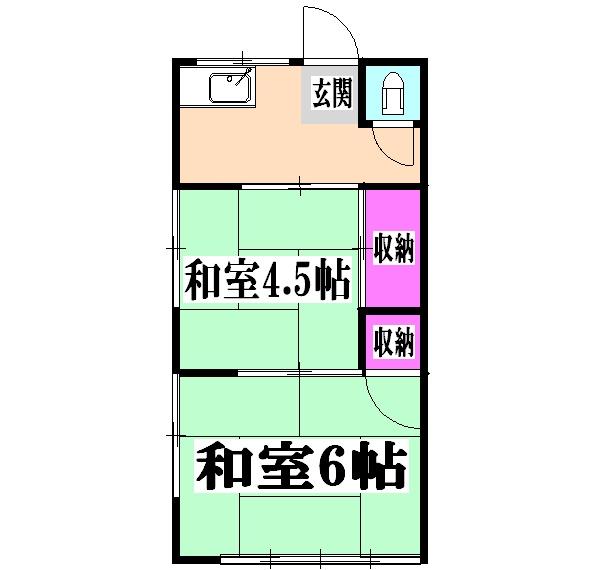 第六新寿荘 202号室の間取り